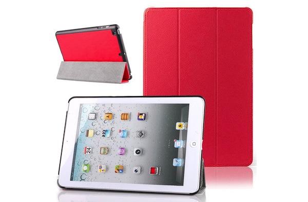 Funda de cuero rojo para iPad Mini
