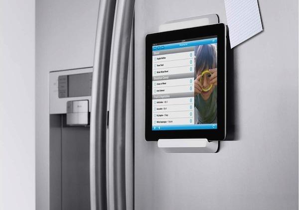 Soporte para colocar el iPad en el frigorífico