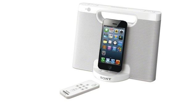 Altavoz Sony con conector Lightning