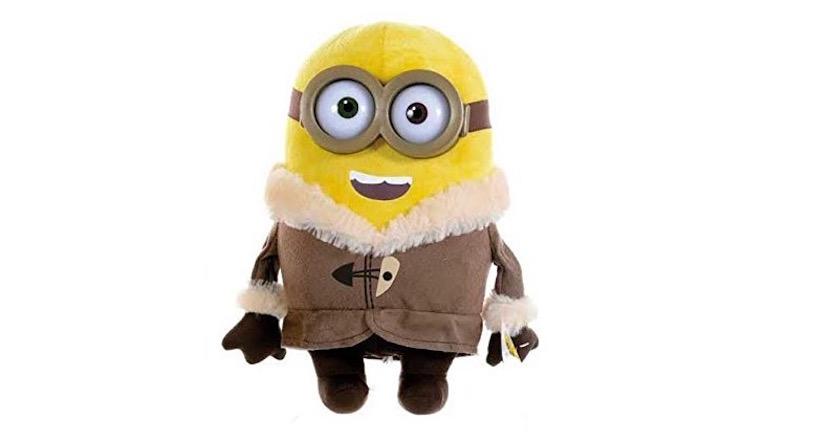 Peluche de minion con abrigo