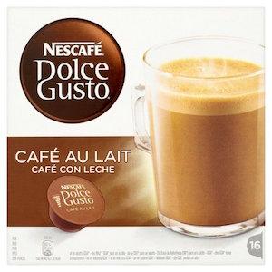 Cápsulas Dolce Gusto de café con leche