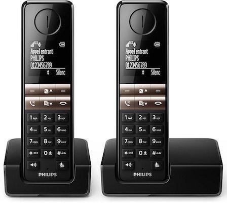 comprar Teléfono inalámbrico duo Philips D4602B barato