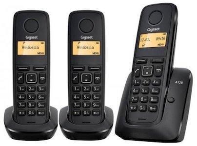 comprar Teléfono inalámbrico trío Gigaset A120 barato