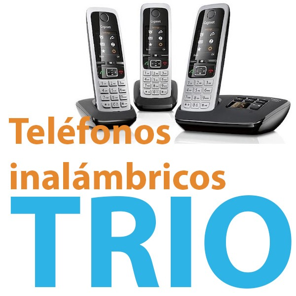 Teléfono inalámbrico trío