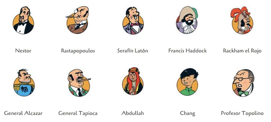 Otros personajes de las Aventuras de Tintín