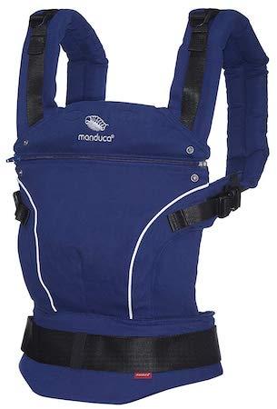 mochila portabebe manduca azul